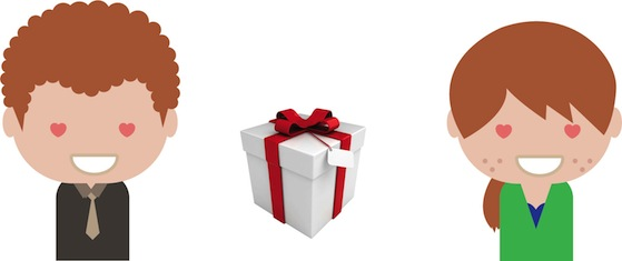 Tiago e um presente para a namorada