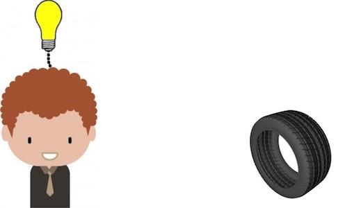 Tiago vai se planejar para trocar o pneu